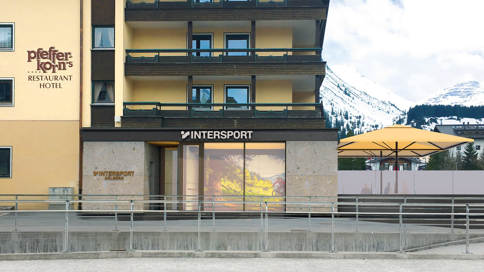 Stop by! Visit our new Intersport Arlberg rental shop at the Rüfikopfbahn in Lech
